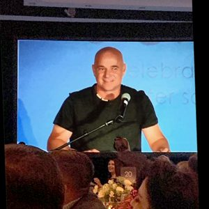 Andre Agassi delivers the keynote address at the 25th Anniversary Gala for the Arizona Charter Schools Association